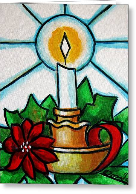 Candle Stand Paintings Greeting Cards - Velapascua Greeting Card by Edgar Torres