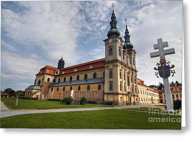 Moravia Greeting Cards - Velehrad - The Basilica of Assumption of Mary and St Cyrillus an Greeting Card by Michal Boubin