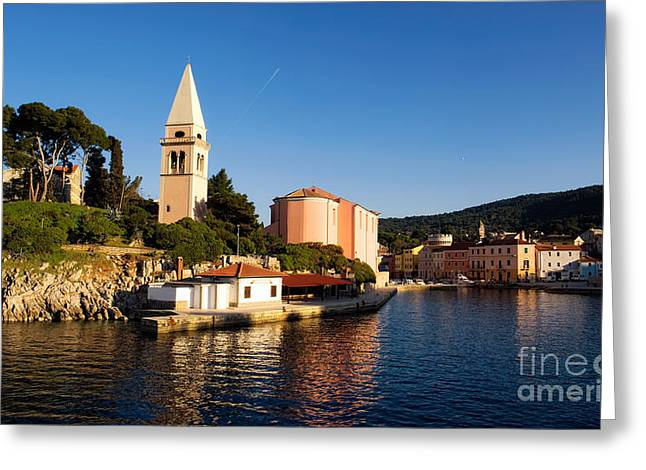 Wooden Ship Greeting Cards - Veli Losinj Greeting Card by Sinisa Botas