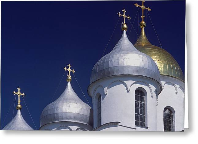 Russian Cross Greeting Cards - Veliky Novgorod or Novgorod the Great Greeting Card by Unknown