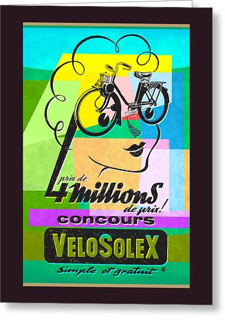 Velosolex Greeting Card by Gary Grayson