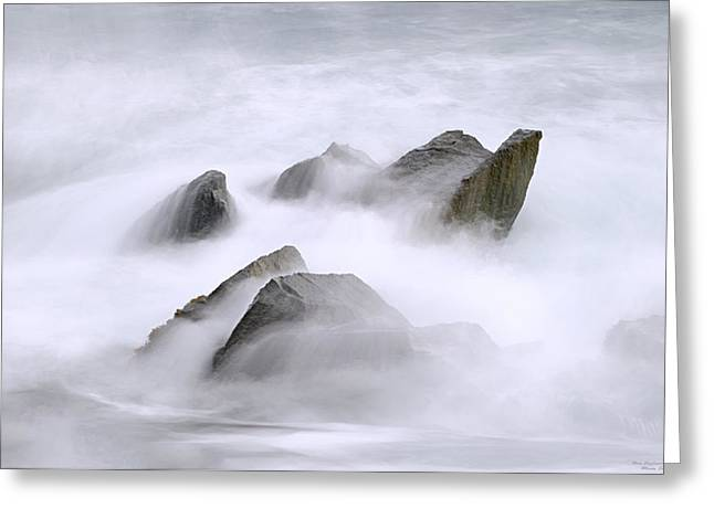 Tidal Photographs Greeting Cards - Velvet Surf Greeting Card by Marty Saccone