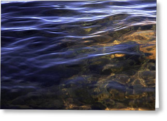 Yun Qing Fu Greeting Cards - Velvet Water Greeting Card by Qing