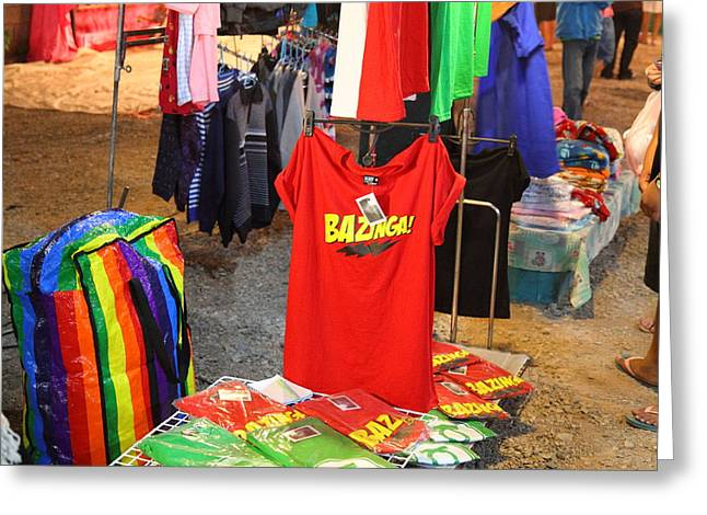 Vendors - Night Street Market - Chiang Mai Thailand - 011315 Greeting Card by DC Photographer