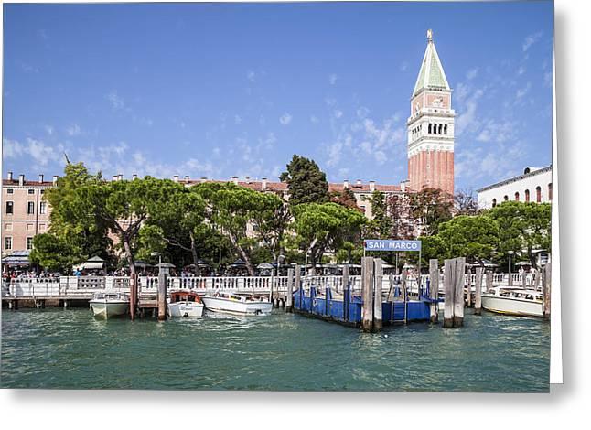 Venedig San Marco Greeting Card by Melanie Viola