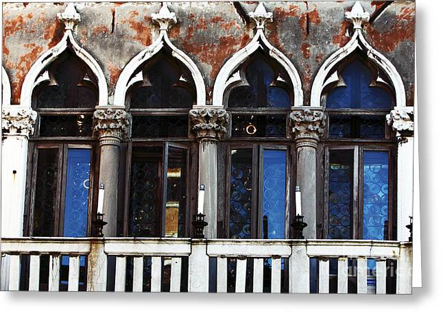 Venetian Door Greeting Cards - Venetian Arches Greeting Card by John Rizzuto