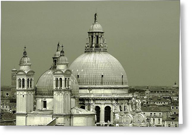 Unique View Greeting Cards - Venetian Basilica Salute Greeting Card by Julie Palencia