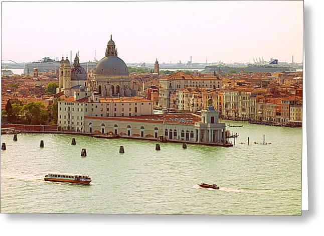Grande Canal Greeting Cards - Venetian Beauty Greeting Card by Valentino Visentini