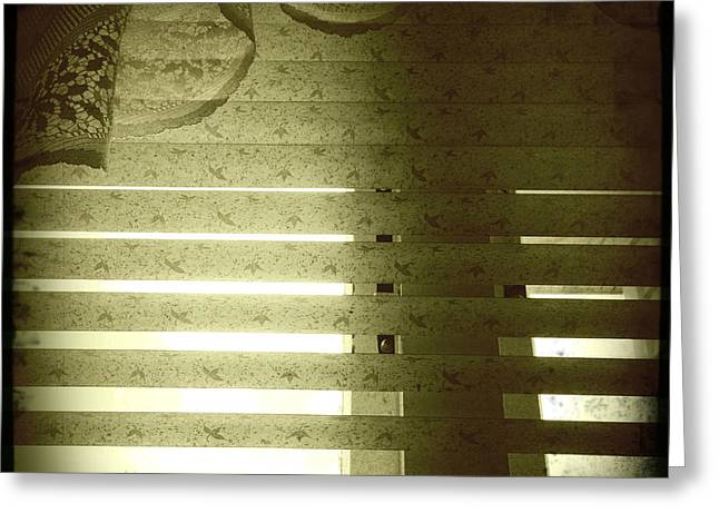 Venetian blinds Greeting Card by Les Cunliffe