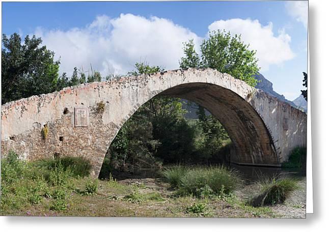 Crete Greeting Cards - Venetian Bridge Near Preveli Monastery Greeting Card by Panoramic Images