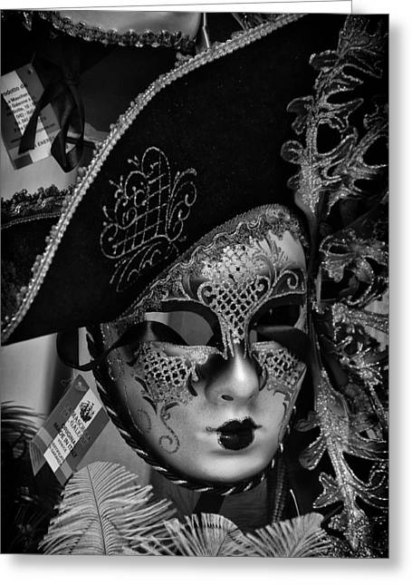 Venetian Carnival Mask Greeting Card by Tom Bell