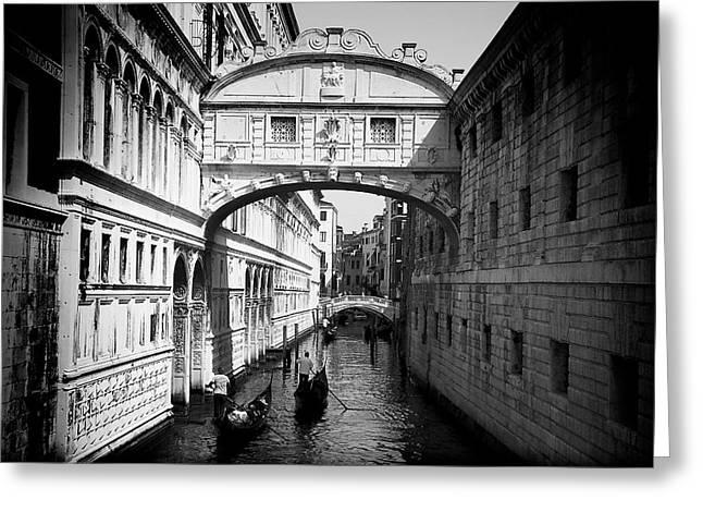 Europe Greeting Cards - Venetian Classic Bridge Greeting Card by David Resnikoff