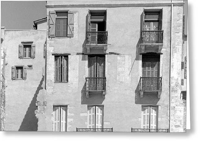 Venetian Balcony Greeting Cards - Venetian era architecture in Chania Greeting Card by Paul Cowan