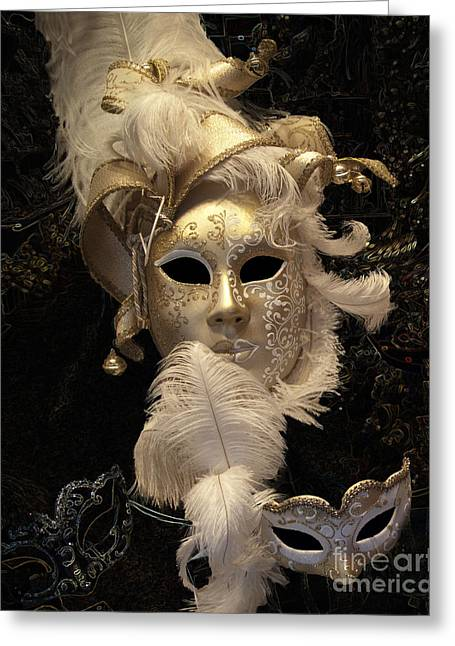 Outfit Greeting Cards - Venetian Face Mask B Greeting Card by Heiko Koehrer-Wagner