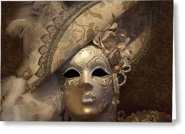 Outfit Greeting Cards - Venetian Face Mask F Greeting Card by Heiko Koehrer-Wagner