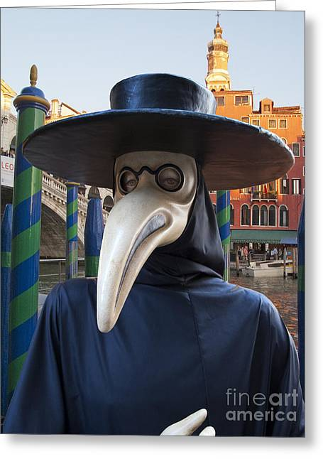 Outfit Greeting Cards - Venetian Face Mask G Greeting Card by Heiko Koehrer-Wagner