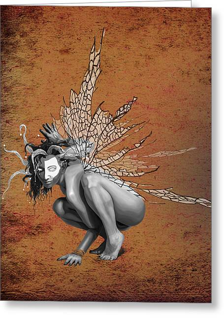 Cirque Greeting Cards - Venetian Fairy Greeting Card by Kd Neeley