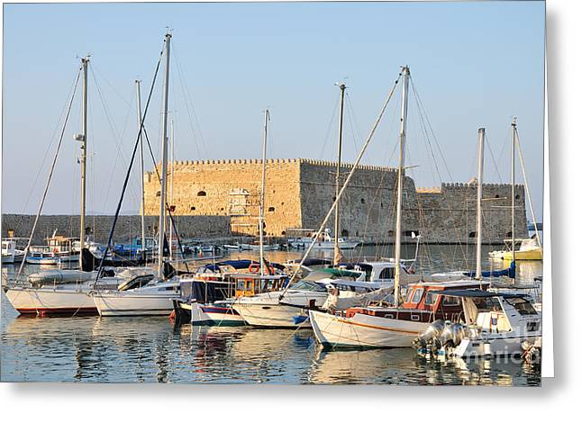 Journey Greeting Cards - Venetian fortress in Iraklio city Greeting Card by George Atsametakis