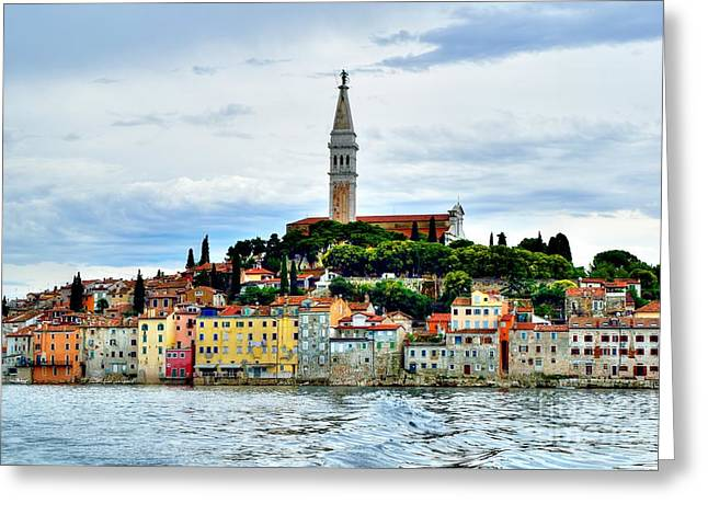 Famous Photographer Greeting Cards - Venetian Fortress of Rovinj Greeting Card by Norman Gabitzsch