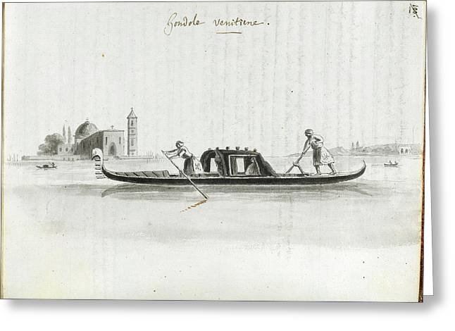 Venetian Gondola Greeting Card by British Library