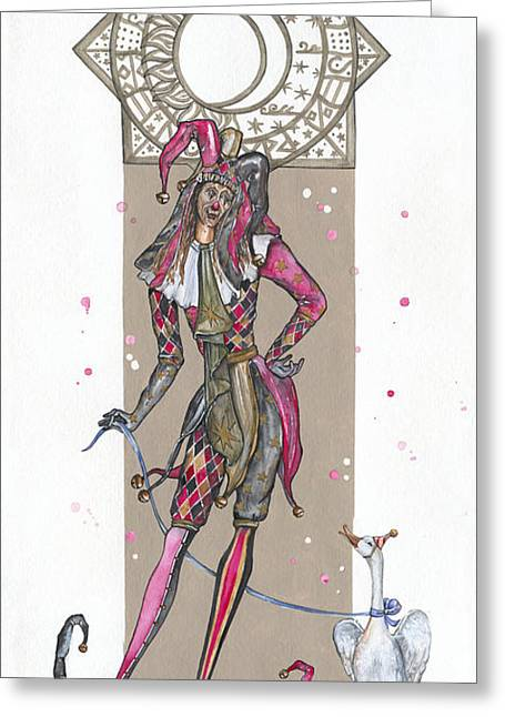 Venetian Jester - Elena Yakubovich Greeting Card by Elena Yakubovich