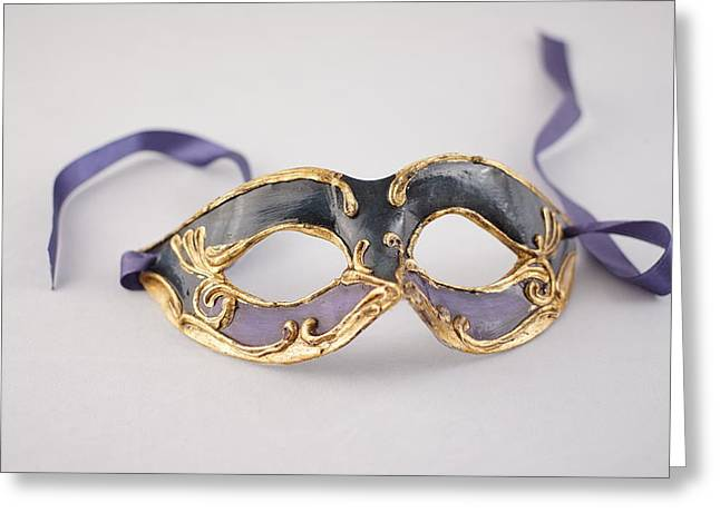 Decorativ Greeting Cards - Venetian Mask  Greeting Card by Christian V Stanescu