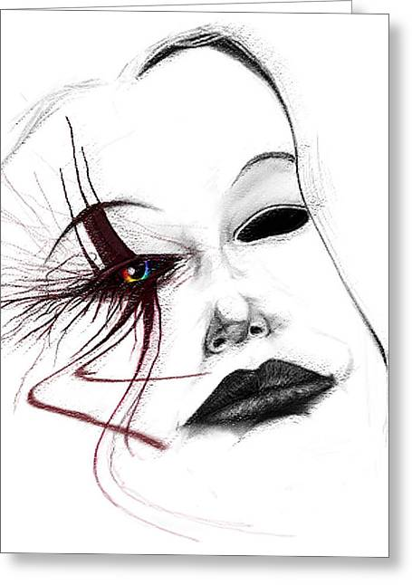 Jester Greeting Cards - Venetian Mask Greeting Card by Kd Neeley