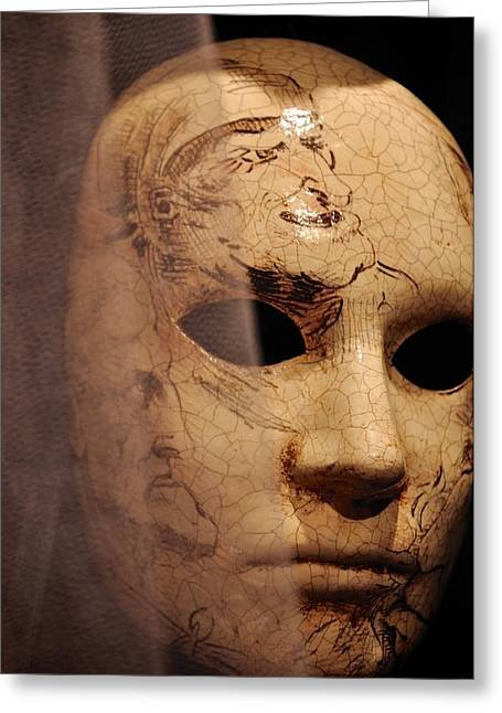 Papier Mache Greeting Cards - Venetian mask Greeting Card by Matt MacMillan