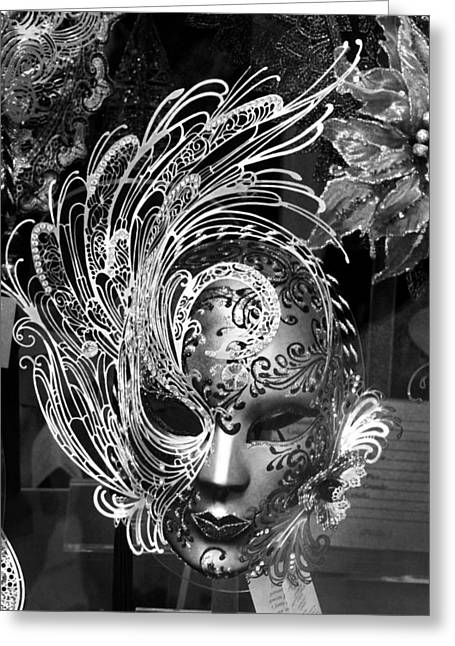 Venetian Mask Greeting Card by Tom Bell