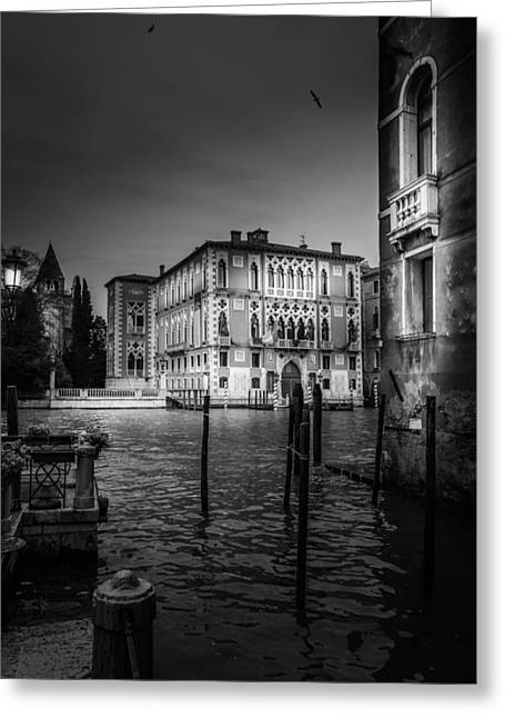 Queen Of The Sea Greeting Cards - Venetian Palazzo At Canal Grande Greeting Card by Colin Utz