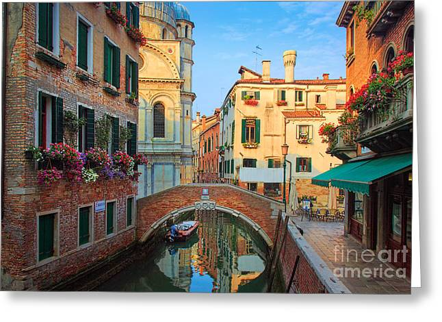 Picturesque Greeting Cards - Venetian Paradise Greeting Card by Inge Johnsson