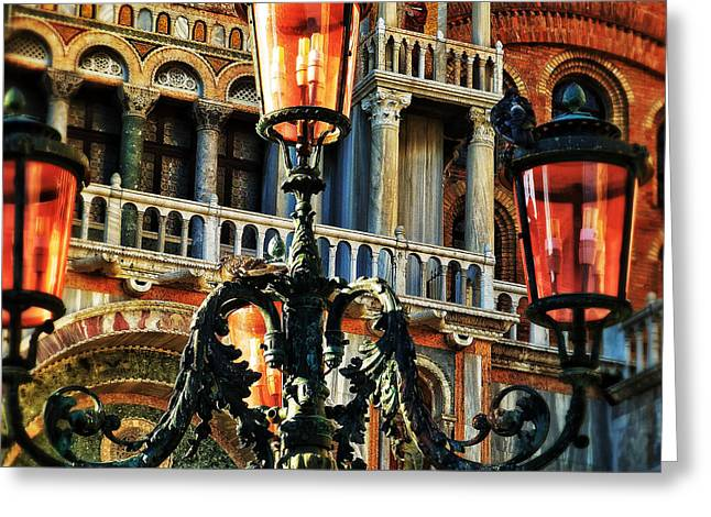 Venetian Balcony Greeting Cards - Venetian Potpourri  Greeting Card by Connie Handscomb
