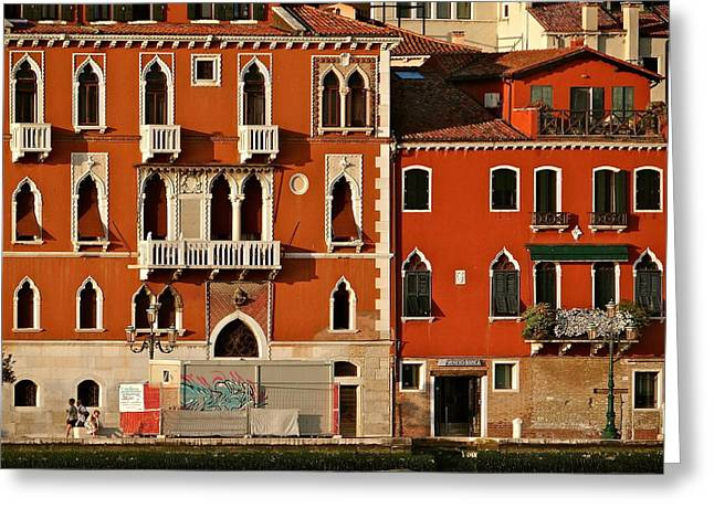 Venetian Red Greeting Card by Ira Shander