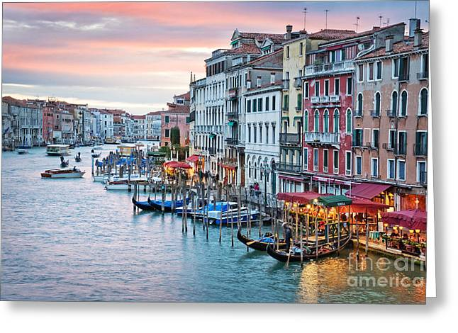 Italian Sunset Greeting Cards - Venetian sunset Greeting Card by Delphimages Photo Creations