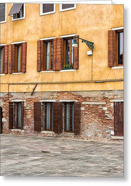 Old Street Greeting Cards - Venetian Wall Greeting Card by Francesco Rizzato