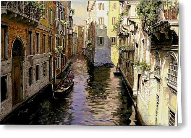 Noon Greeting Cards - Venezia Chiara Greeting Card by Guido Borelli