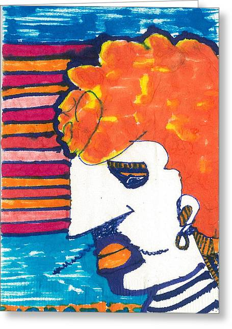 Caricature Tapestries - Textiles Greeting Cards - Venezia Gondolier Greeting Card by Don Koester