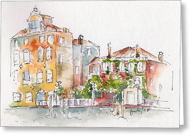 Sienna Italy Greeting Cards - Venezia Grand Canal Greeting Card by Pat Katz