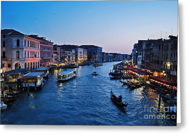 Gran Canal Greeting Cards - Venezia - Il Gran Canale Greeting Card by Carlos Alkmin