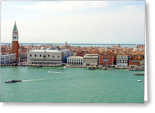 Grande Canal Greeting Cards - Venezia Panoramica Greeting Card by Valentino Visentini