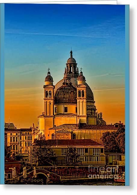 Venezia-basilica Of Santa Maria Della Salute Greeting Card by Tom Prendergast