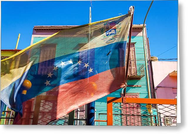 Latino Culture Greeting Cards - Venezuelan Flag Greeting Card by Jess Kraft