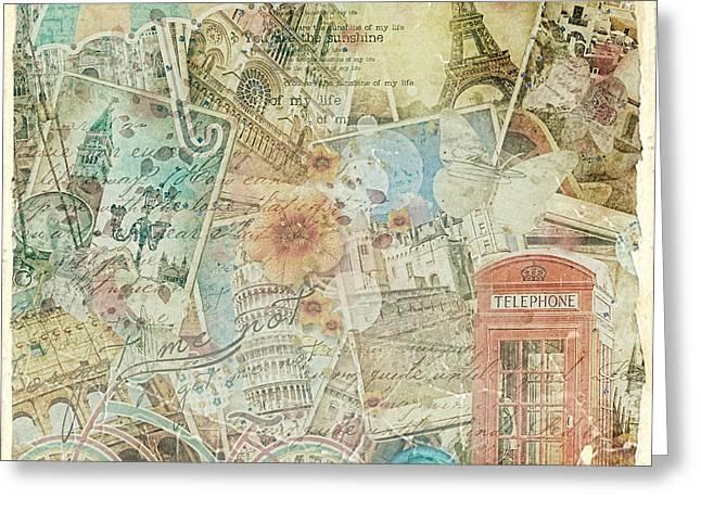 Postal Greeting Cards - Veni Vidi Vici Greeting Card by Mo T