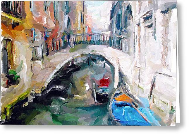 Gondolier Greeting Cards - Venice 18 Greeting Card by Yury Malkov