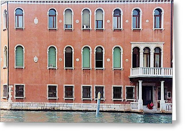 Recently Sold -  - Residential Structure Greeting Cards - Venice Apartment Greeting Card by Stuart Litoff