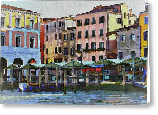 Gondolier Digital Art Greeting Cards - Venice Architecture 3 Greeting Card by Yury Malkov