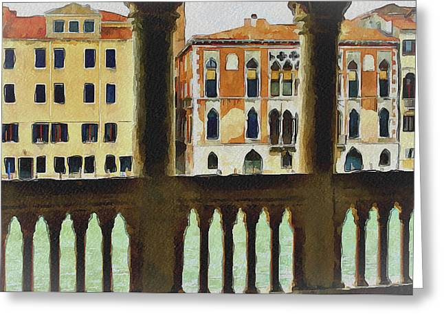 Gondolier Greeting Cards - Venice Architecture 4 Greeting Card by Yury Malkov