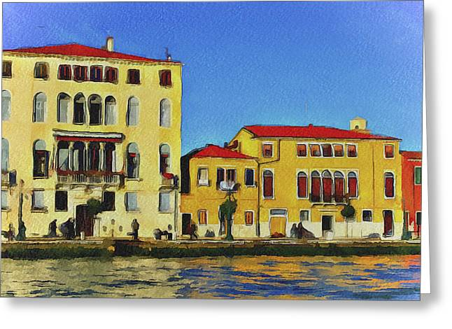 Gondolier Greeting Cards - Venice Architecture 5 Greeting Card by Yury Malkov