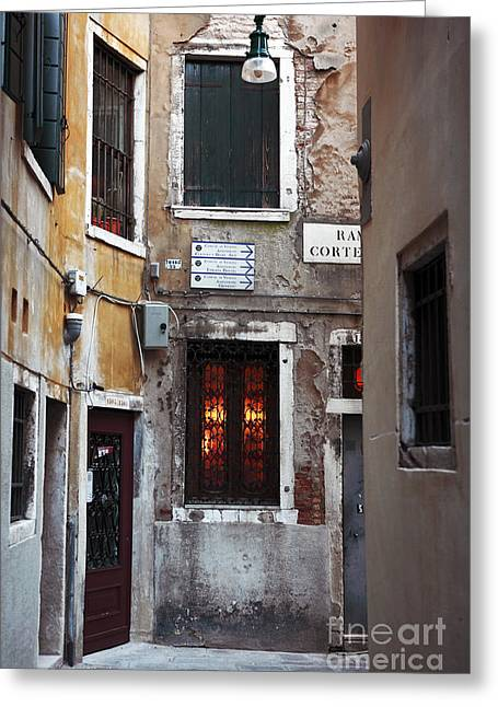 Photo Art Gallery Greeting Cards - Venice Architecture I Greeting Card by John Rizzuto