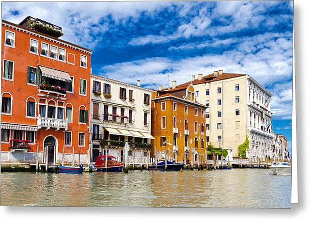 The Piazza Greeting Cards - Venice Architecture Greeting Card by Jon Berghoff